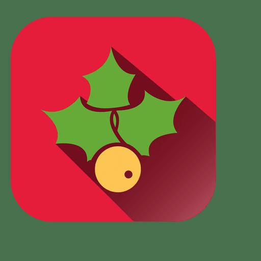 Mistletoe Red Square Symbol