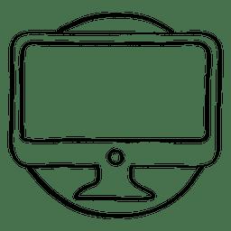 Doodle de círculo do monitor