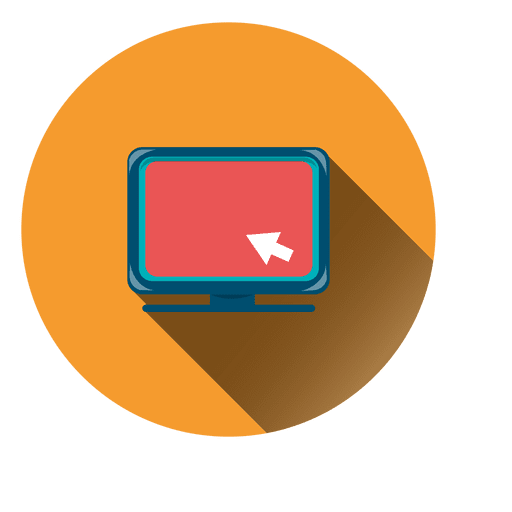 Computer monitor circle icon Transparent PNG