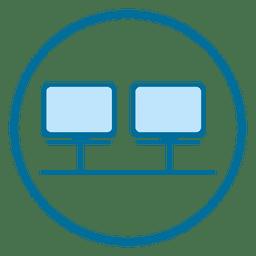 ícone monitores círculo