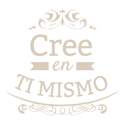 Distintivo espanhol decorativo motivacional Transparent PNG