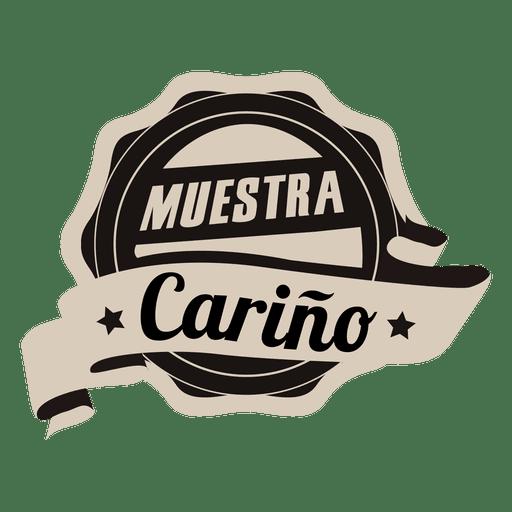 Motivational round spanish badge