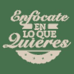 Emblema espanhol motivacional