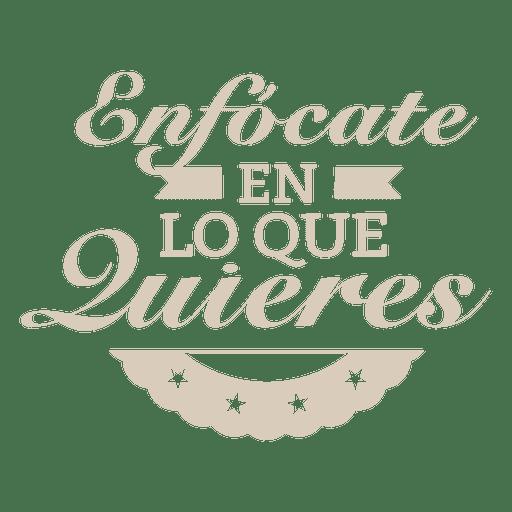 Emblema espanhol motivacional Transparent PNG