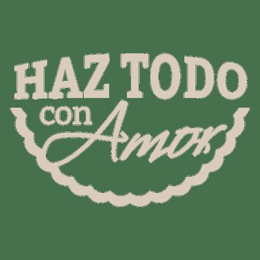 Motivational spanish badge 2 Transparent PNG