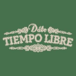 Decoração de distintivo espanhol motivacional