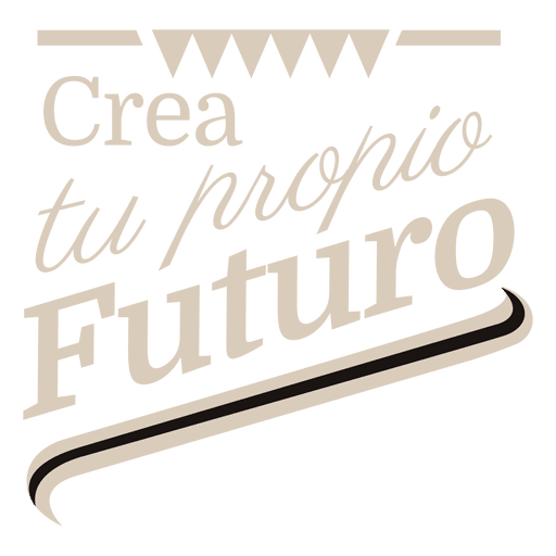 Motivational spanish label 1 Transparent PNG