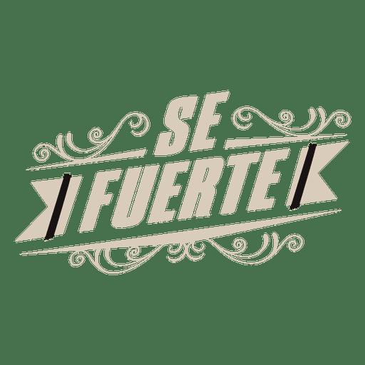 Motivational spanish label decoration Transparent PNG