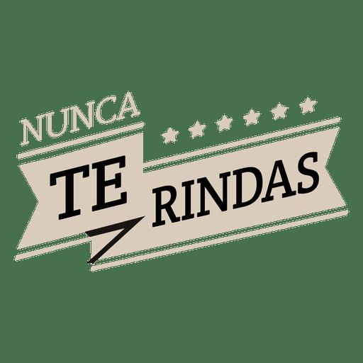 Motivational spanish ribbon
