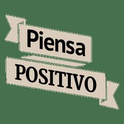 Motivational spanish ribbon badge