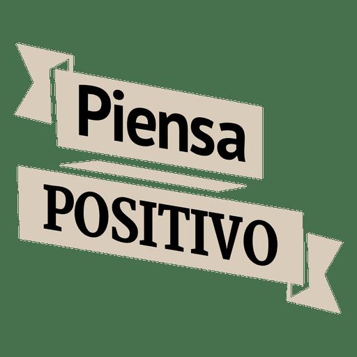 Motivational spanish ribbon badge Transparent PNG
