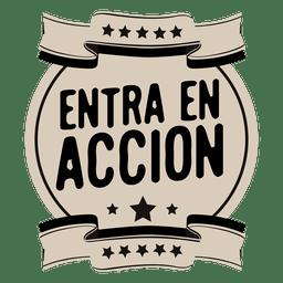 Emblema redondo espanhol inspirador