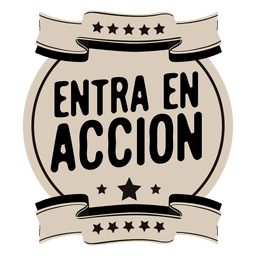 Motivational spanish round badge