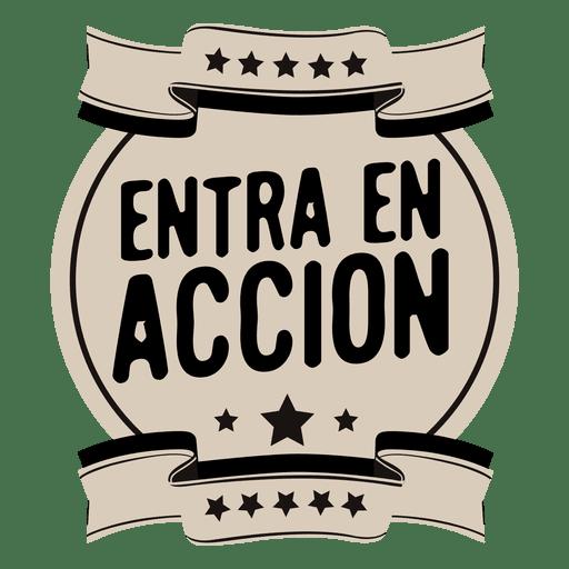 Motivational spanish round badge