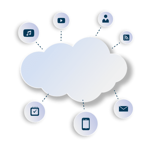 Multimedia cloud computing Transparent PNG