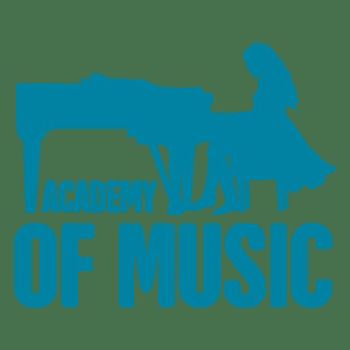 Logotipo de la academia de musica Transparent PNG