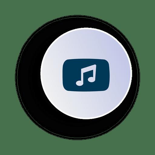Icono de círculo de música