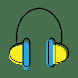 Icono de auriculares de música
