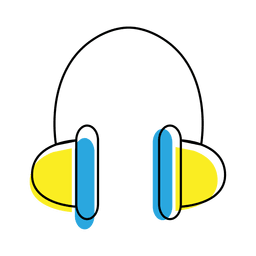 Music headphone icon