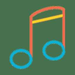 Ícone colorido da nota de música