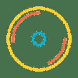 Icono de reproductor de música colorido