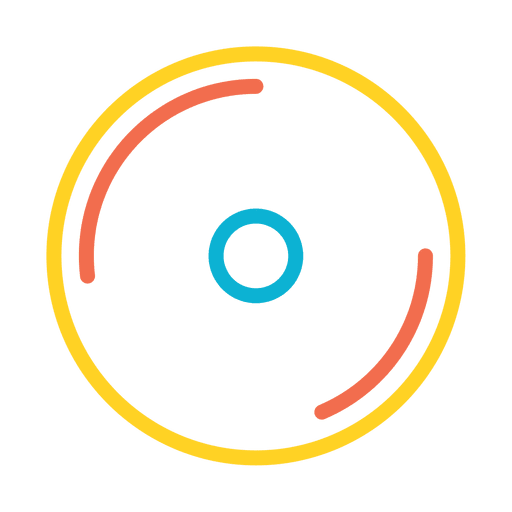 Colorful music player icon Transparent PNG