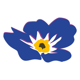 Myosotis flower cartoon 2