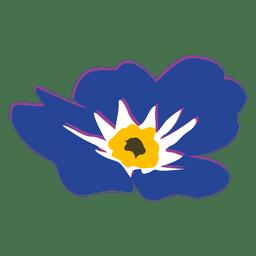 Myosotis flower cartoon 2