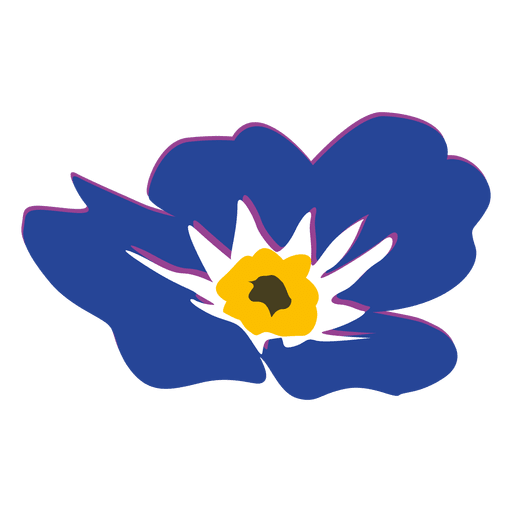 Myosotis flower cartoon 2 Transparent PNG
