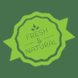 Emblema de rótulo ecologia natural