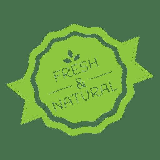 Natural ecology label badge