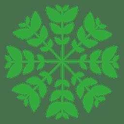 Logotipo de las hojas de la naturaleza