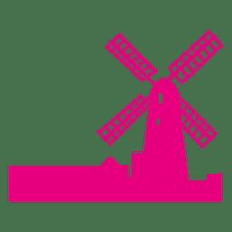 Holanda horizonte de molino de viento