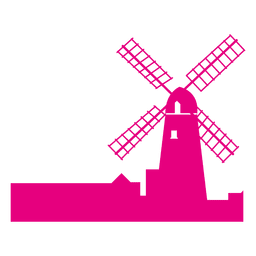 Horizonte de molino de viento de Holanda