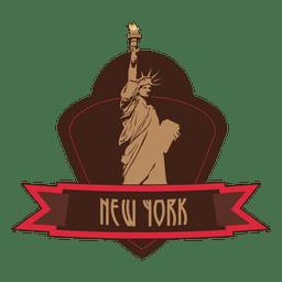 Emblema de hito de nueva york