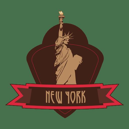 Emblema de hito de nueva york Transparent PNG
