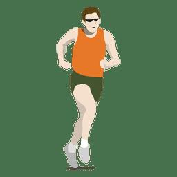 Desenho de maratona olímpica