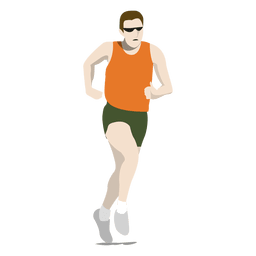 Olympic marathon cartoon