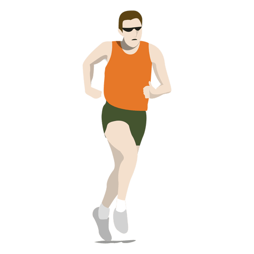 Olympic marathon cartoon Transparent PNG