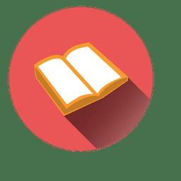 Icono de la ronda del libro abierto