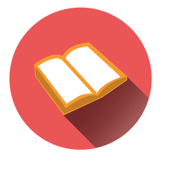 Open book round icon