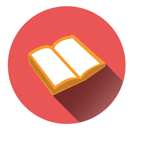 Icono de libro abierto redondo