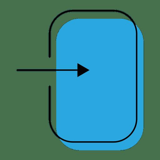 Ícone azul aberto Transparent PNG