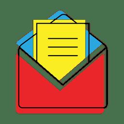 Abra o ícone de mensagem de correio