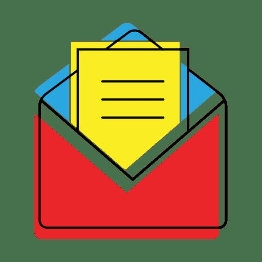 Icono de correo de mensaje abierto