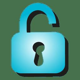 Opened padlock icon