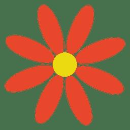 Flor abstracta naranja