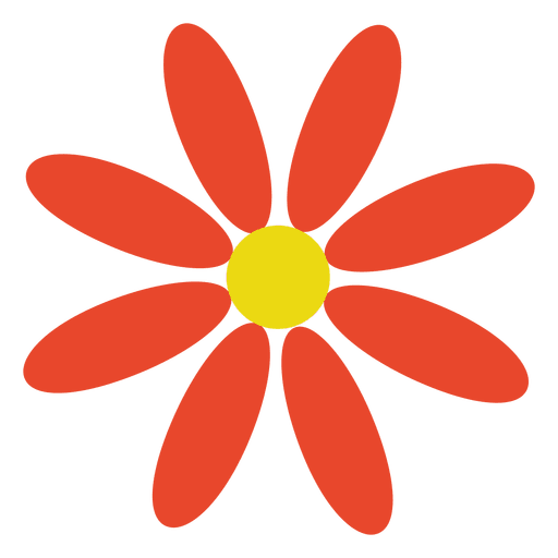 Flor Abstracta Naranja Descargar Png Svg Transparente