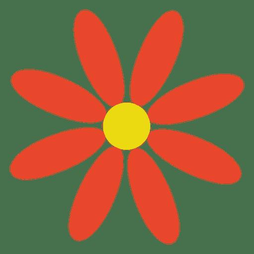 Orange abstract flower Transparent PNG