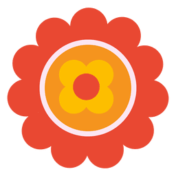 Orange flower icon 3